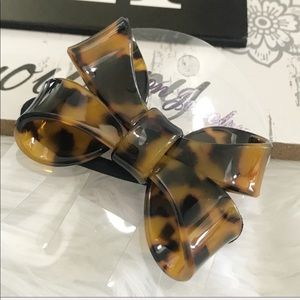 Acrylic Faux Tortoise Bow Hair Band